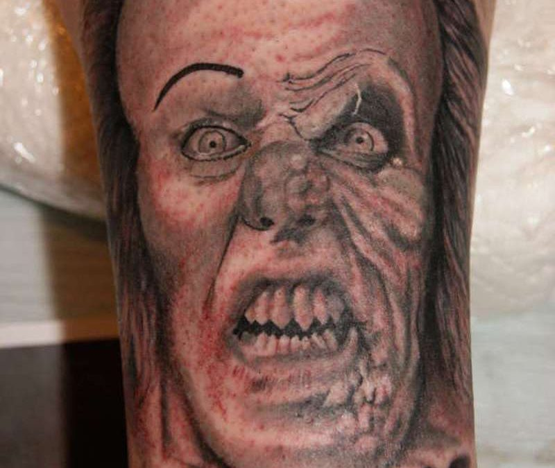 Angry clown tattoo