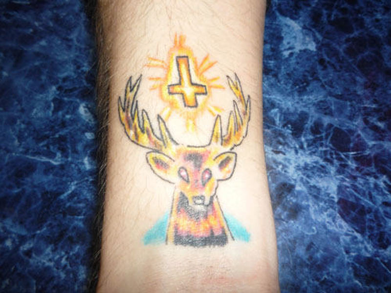 Animal deer tattoo design 2