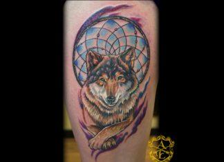 3e4ce24da Animal wolf dream catcher tattoo design - Tattoos Book - 65.000 Tattoos  Designs