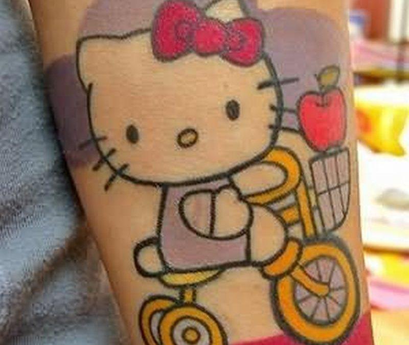 Animation bike tattoo design