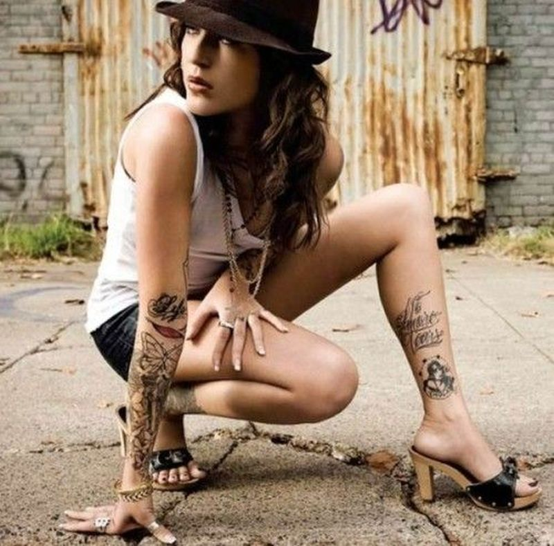 Ankle tattoo for sexy girls
