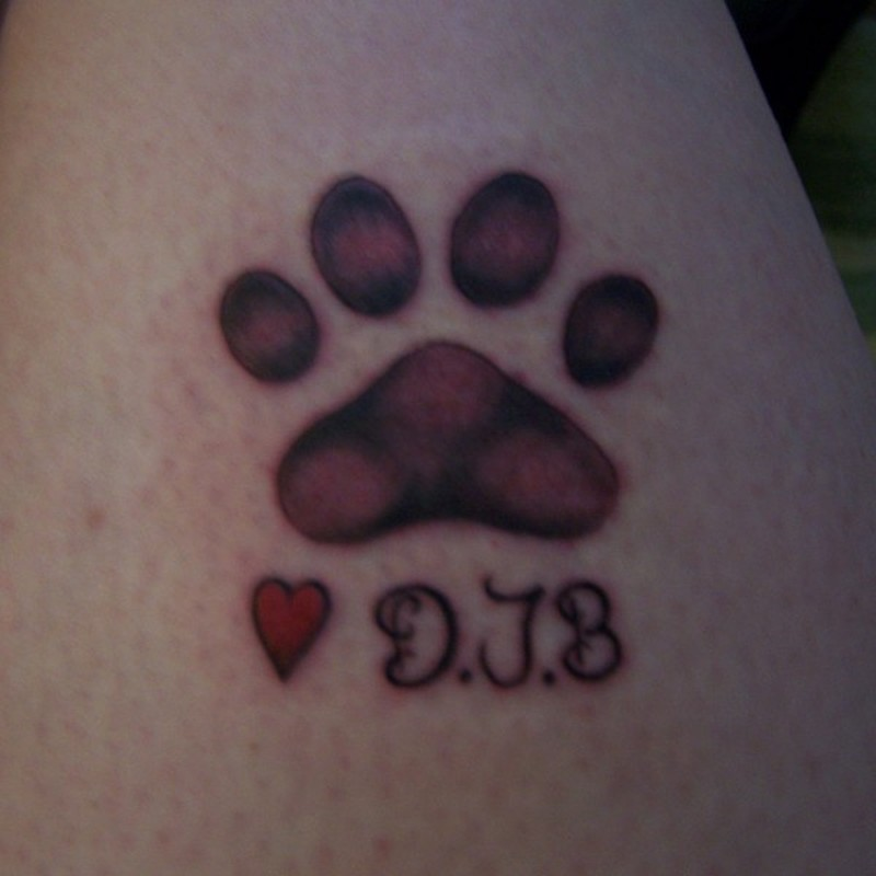 fdca4aaba Another dog paw print tattoo - Tattoos Book - 65.000 Tattoos Designs