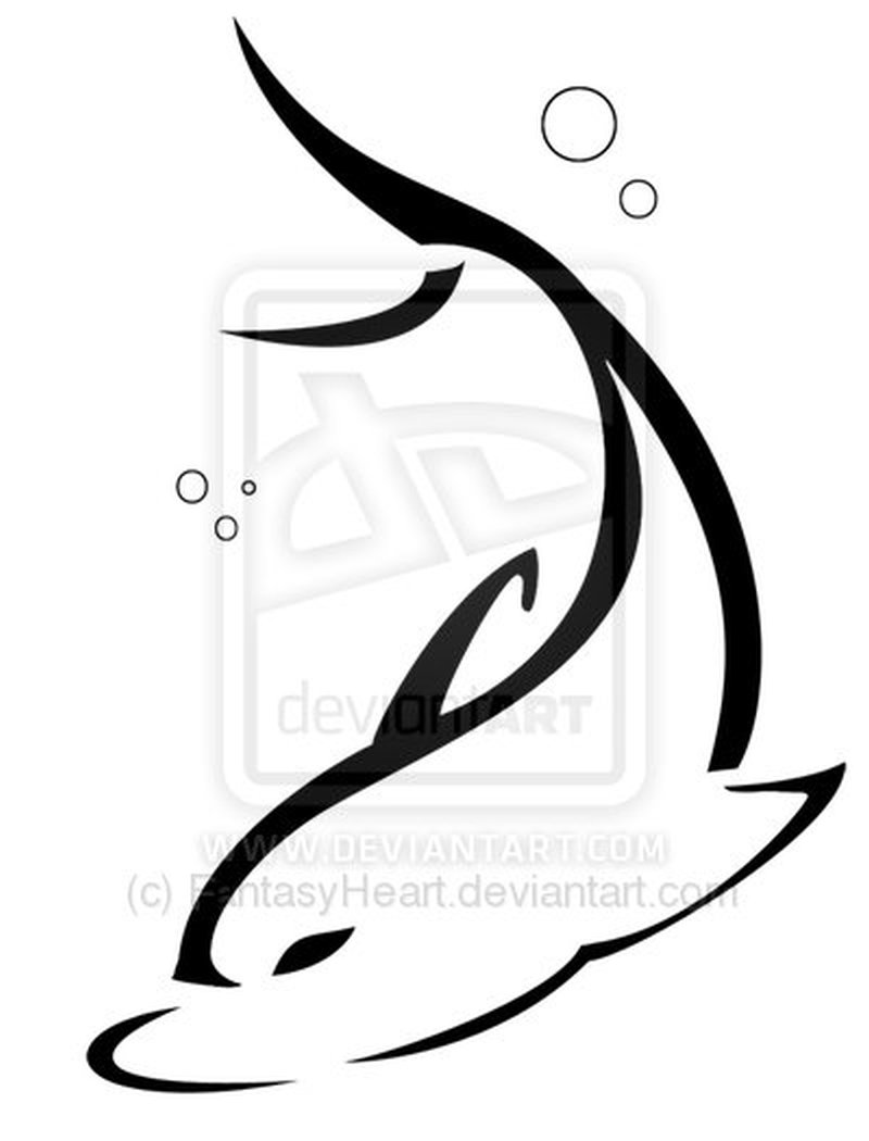 Another dolphin tattoo sample