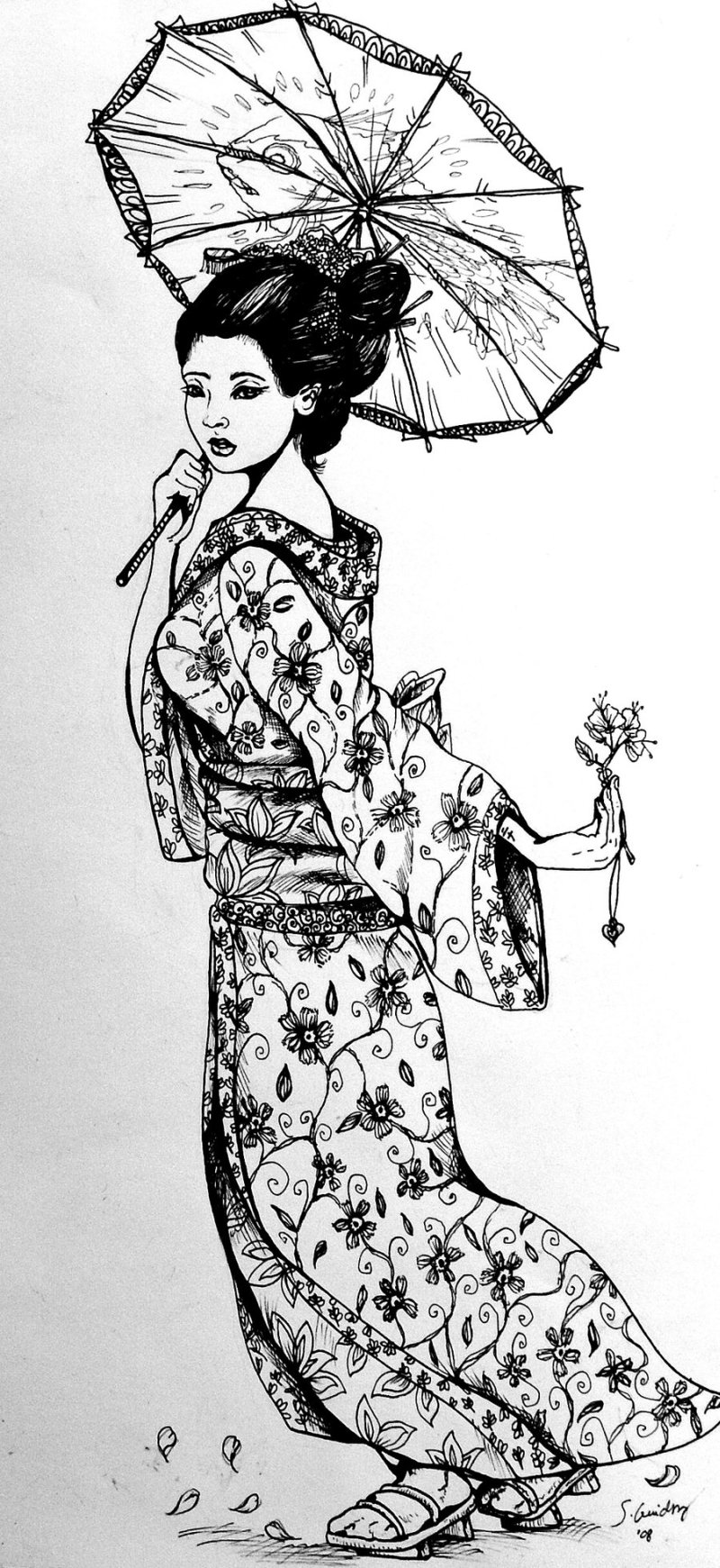 Another Japanese Geisha Tattoo Design Tattoos Book 65 000