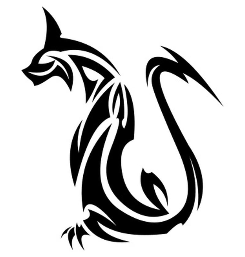 40cd53052f225 Another tribal cat tattoo design 2 - Tattoos Book - 65.000 Tattoos ...