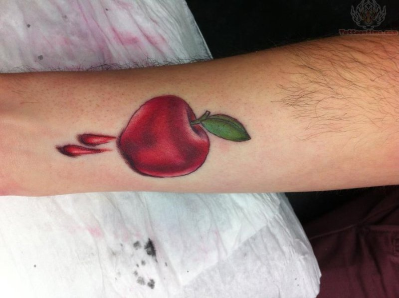 Apple bleeding tattoo