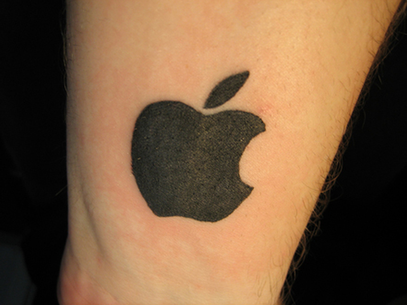 Apple logo tattoo design