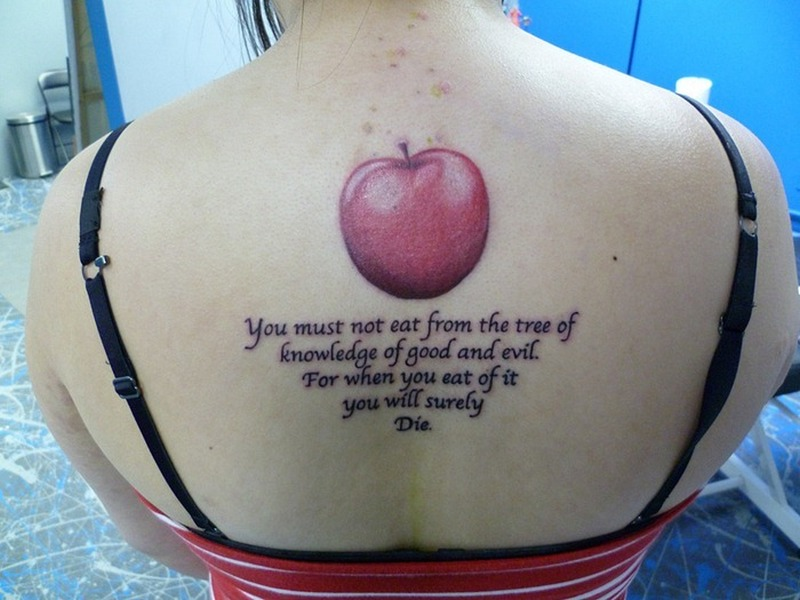 Apple quote tattoo