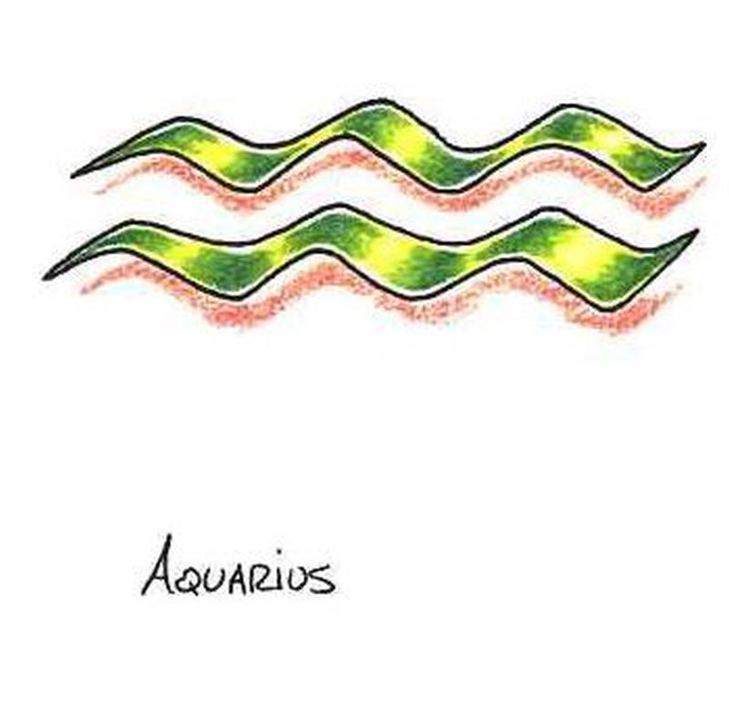 Aquarius symbol tattoo 2