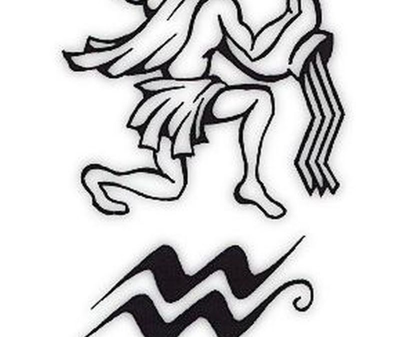 Aquarius symbol tattoo design