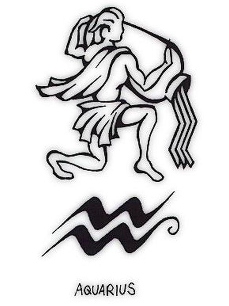 Aquarius symbol tattoo design