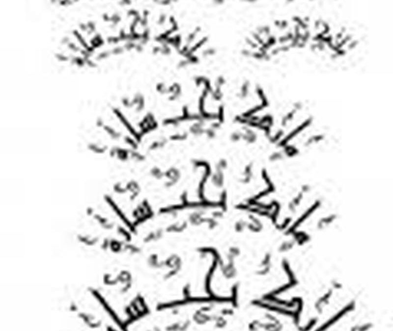 Arabic tattoo lettering fonts