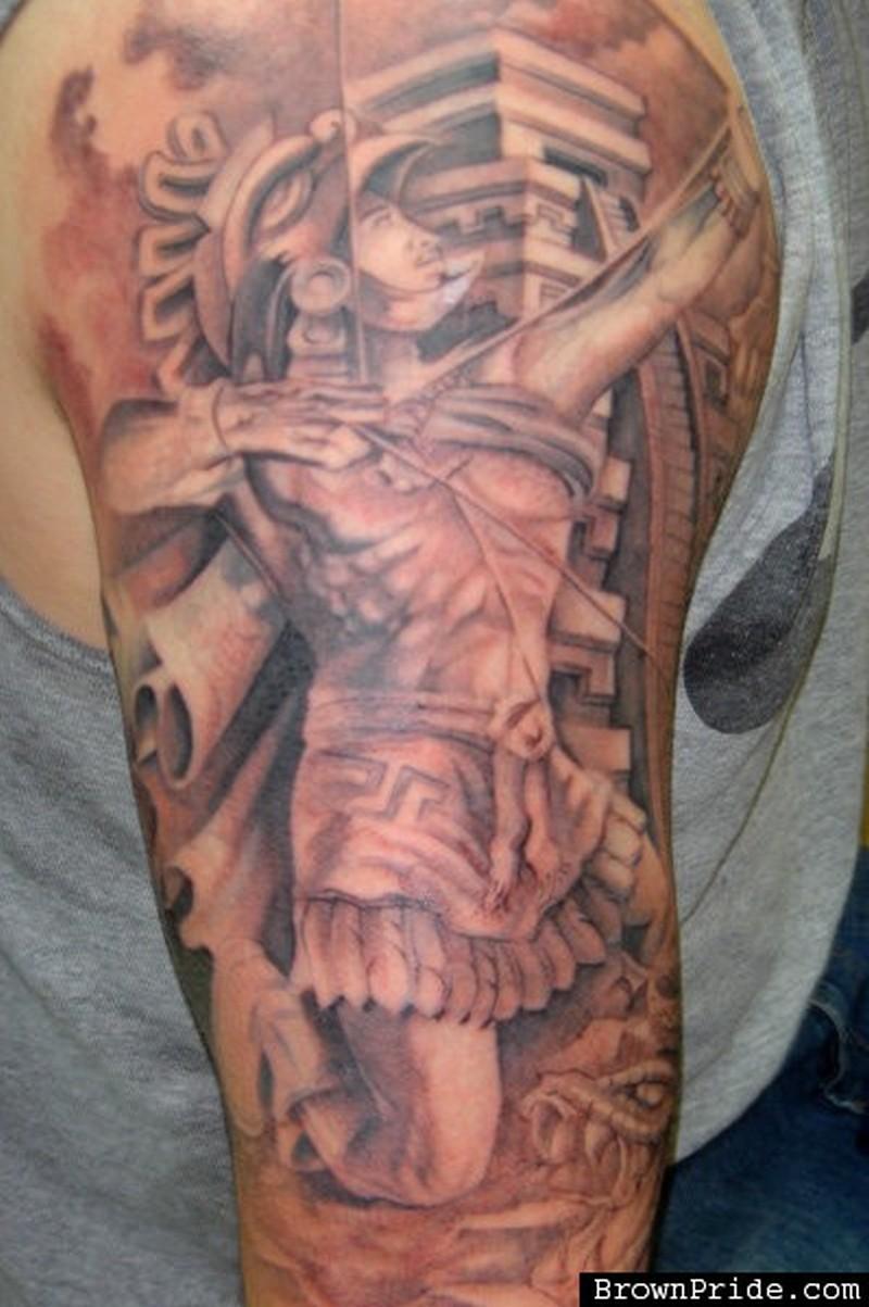 Archer aztec tattoo