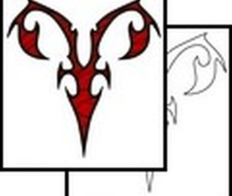 Aries symbol tattoo designs