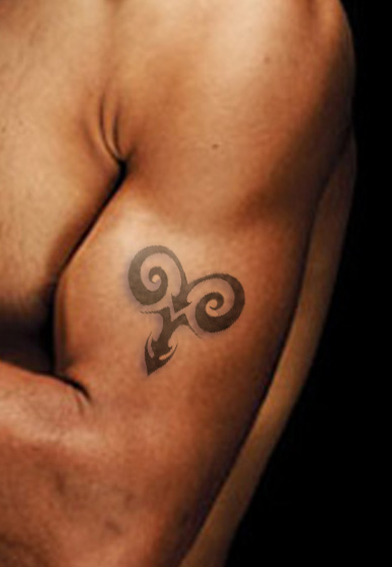 Aries symbol tattoo on bicep tattoos book 65000 tattoos designs aries symbol tattoo on bicep biocorpaavc Images