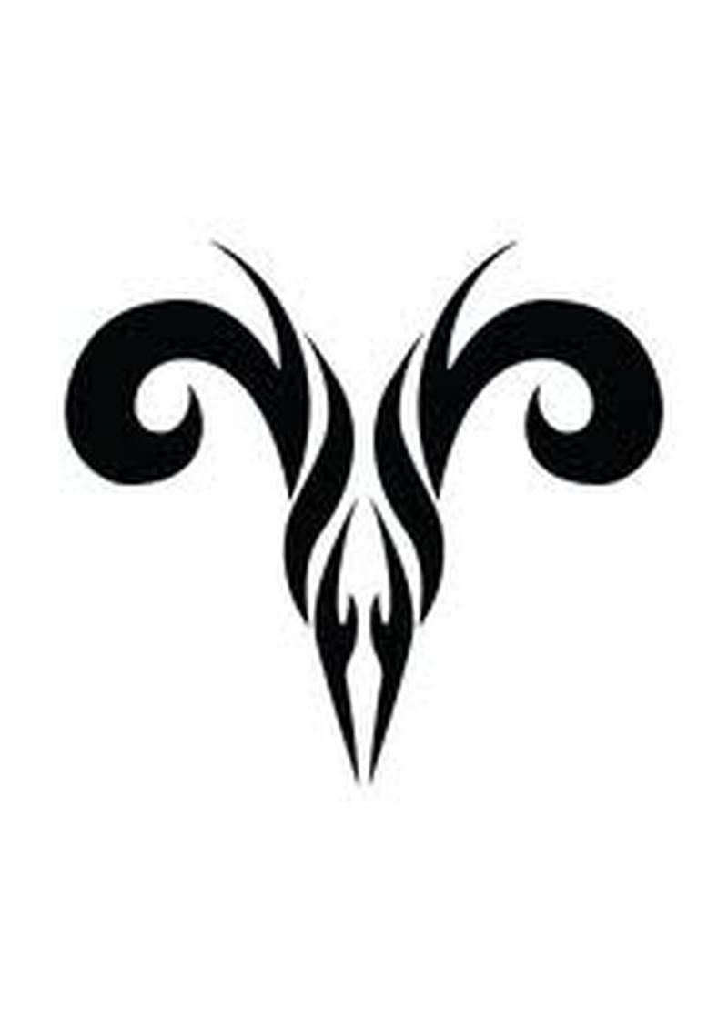 Aries Zodiac Sign Tattoo Tattoos Book 65000 Tattoos Designs