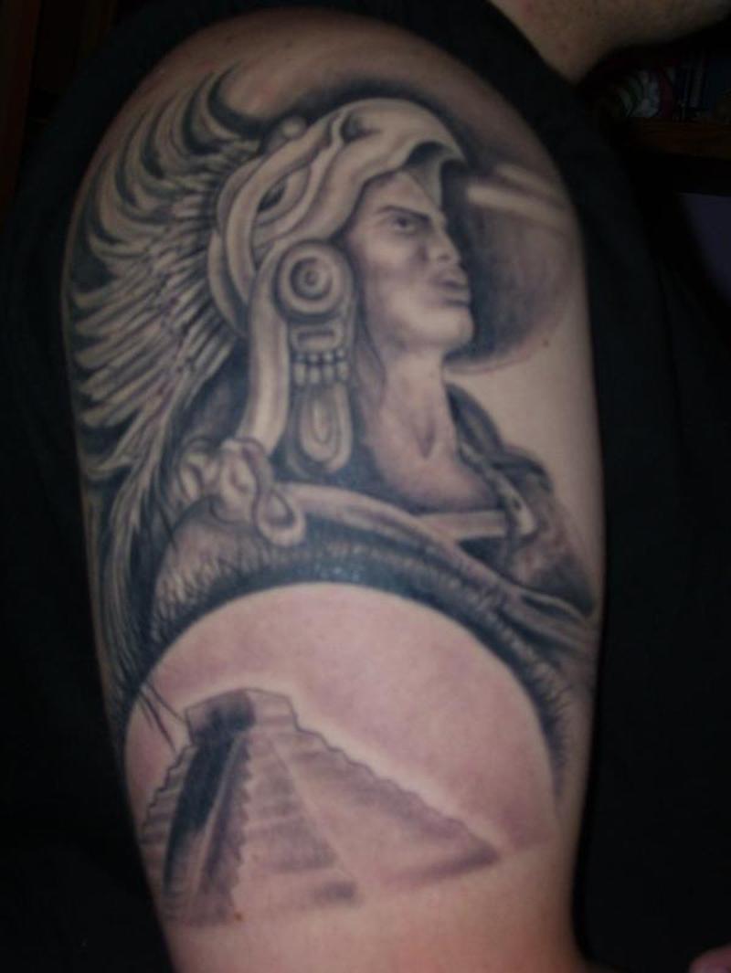 Arm aztec tattoo design