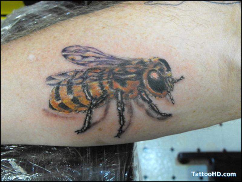 Arm bumblebee tattoo