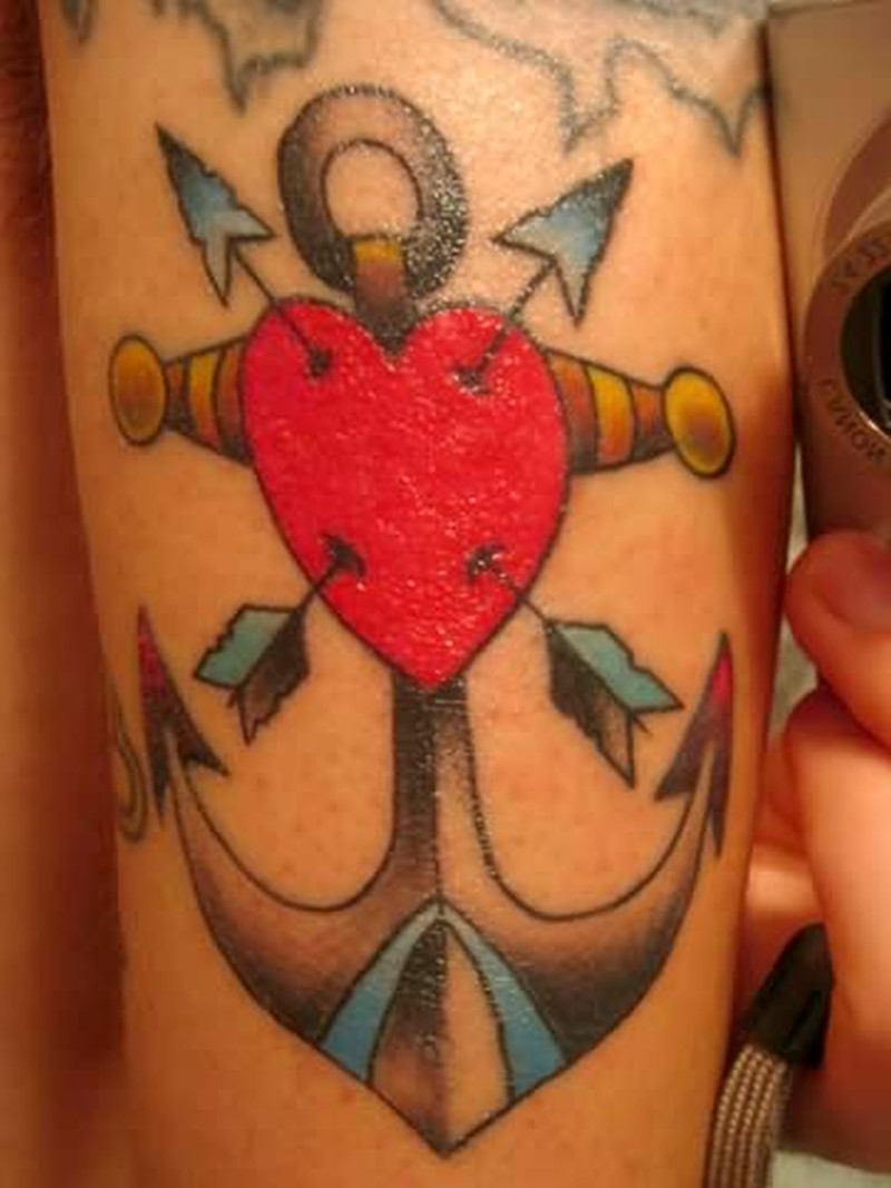 arrow heart anchor tattoo design tattoos book tattoos designs. Black Bedroom Furniture Sets. Home Design Ideas