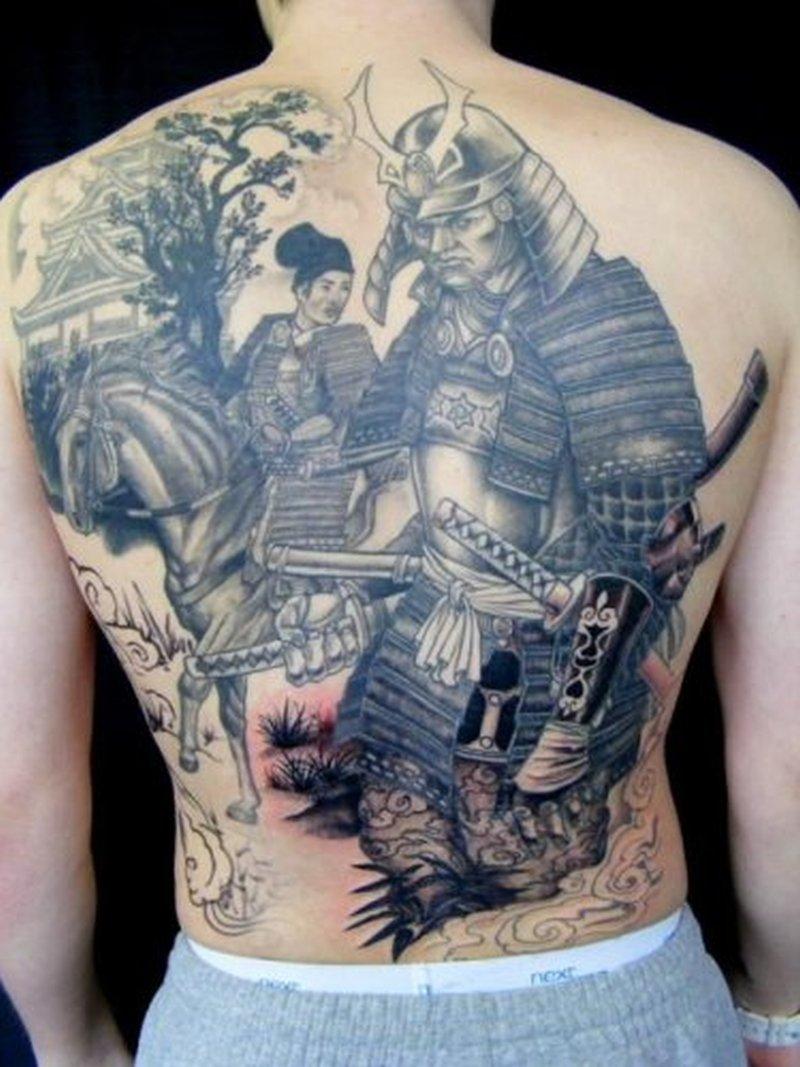 asian samurai temple tattoo design tattoos book tattoos designs. Black Bedroom Furniture Sets. Home Design Ideas