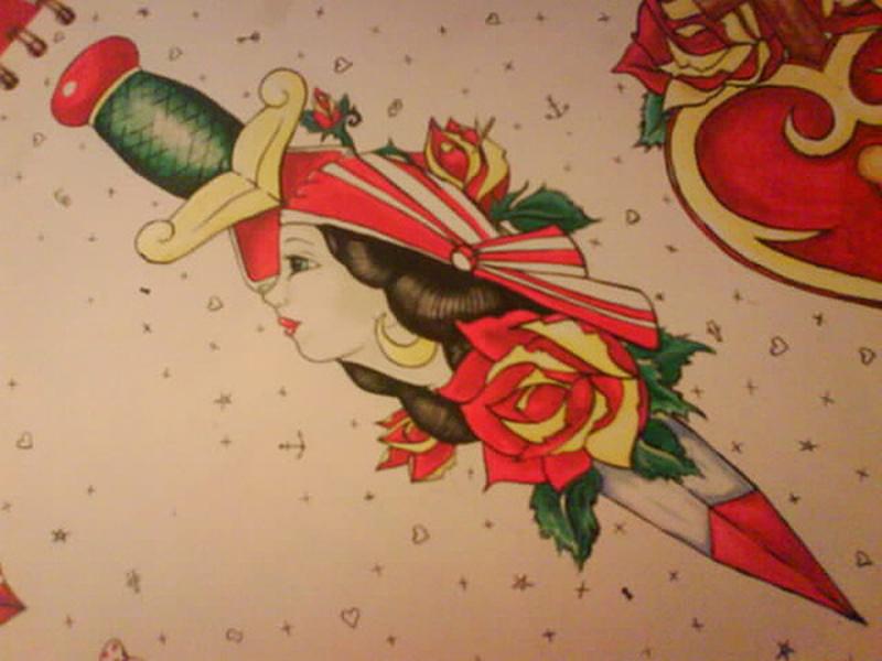 Dagger Tattoo For Women