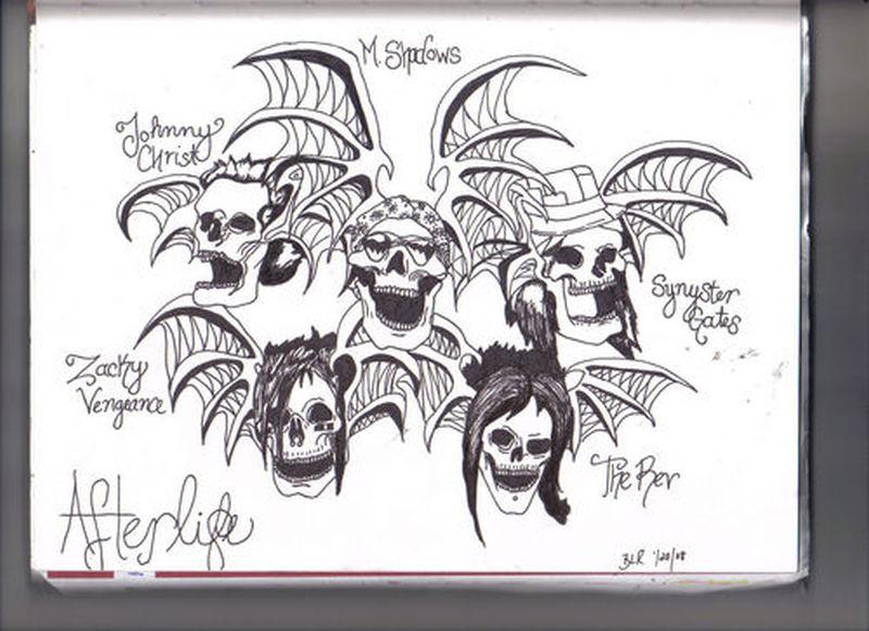 Avenged sevenfold deathbats tattoo designs