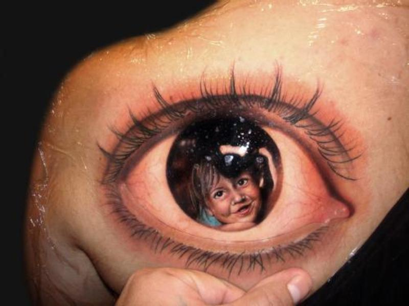 awesome-3d-eye-tattoo-on-back-shoulder