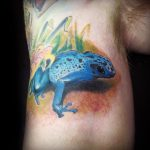 awesome-3d-frog-tattoo-design