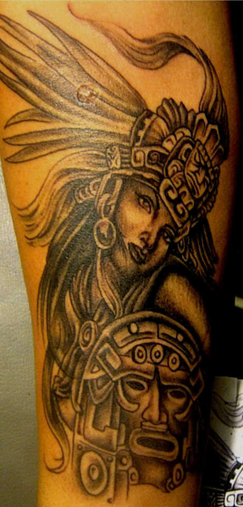Awesome aztec girl design tattoo tattoos book for Tattoo girl book