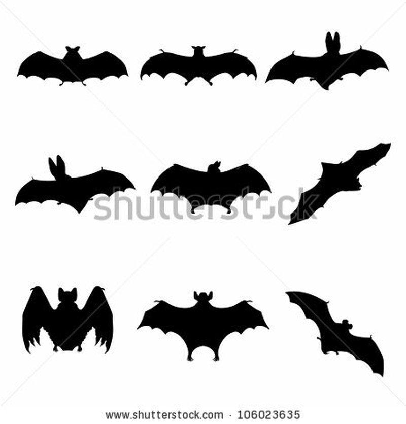 Awesome bats tattoo design