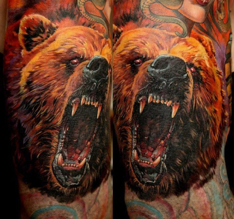 Медведь картинки для тату