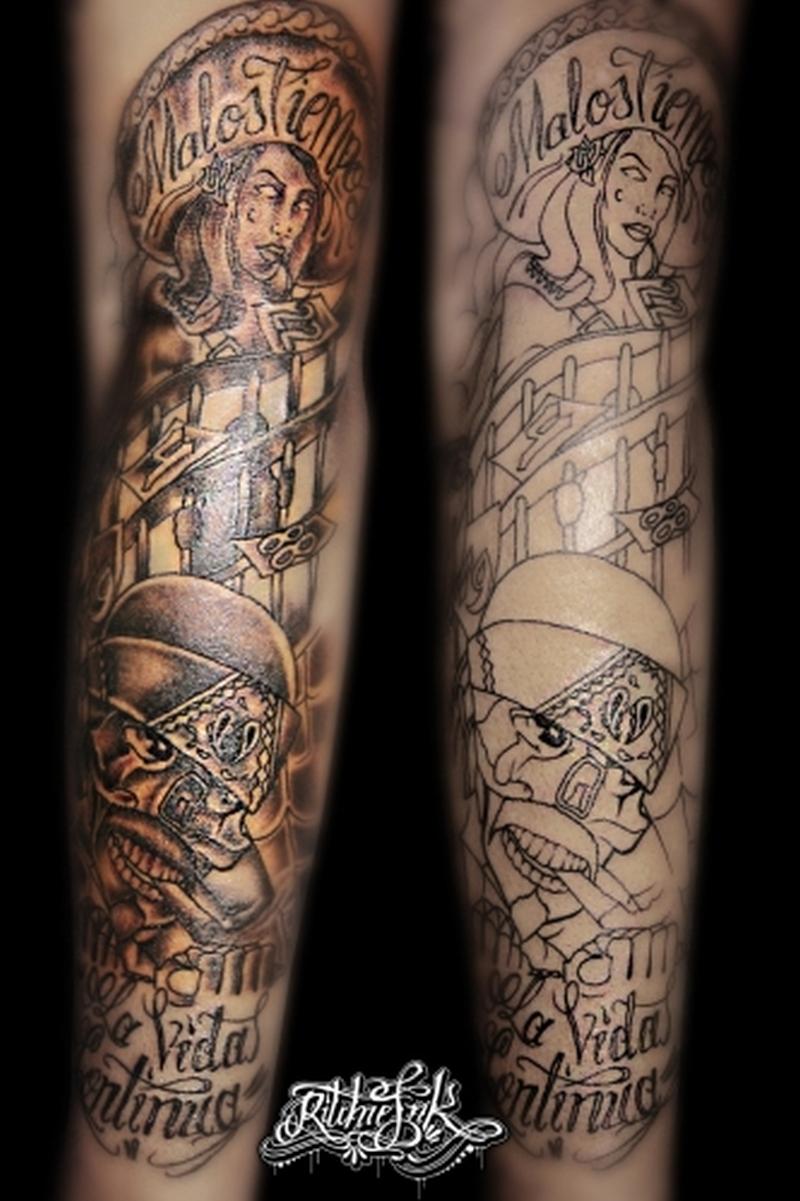 Gangster Joker Tattoo Sleeve Best Tattoo Ideas