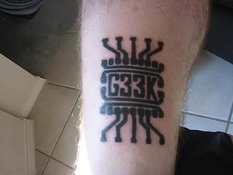 Awesome geek tattoo design tattoos book tattoos for Nerd tattoo designs