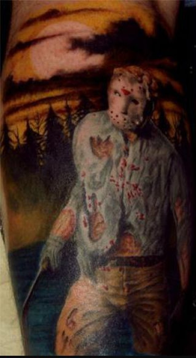 Awesome horror movie tattoo design