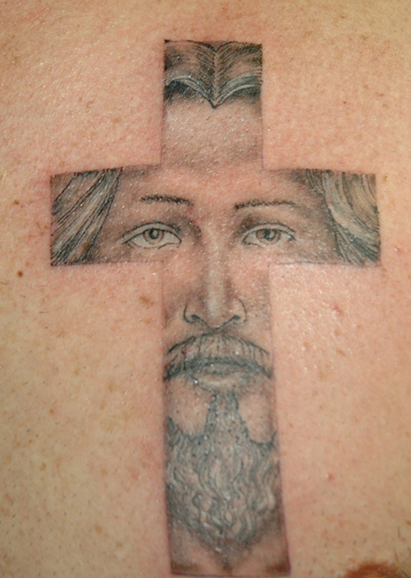 awesome jesus cross tattoo design tattoos book. Black Bedroom Furniture Sets. Home Design Ideas