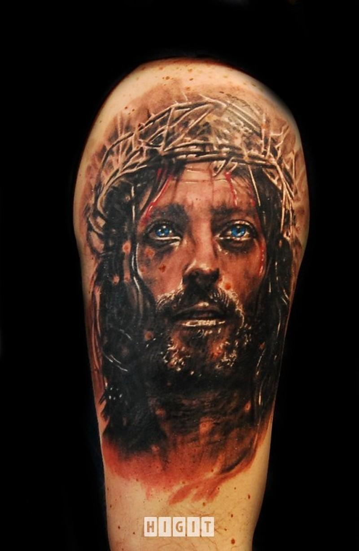 bbf22ffb246e9 Awesome jesus portait tattoo design - Tattoos Book - 65.000 Tattoos ...