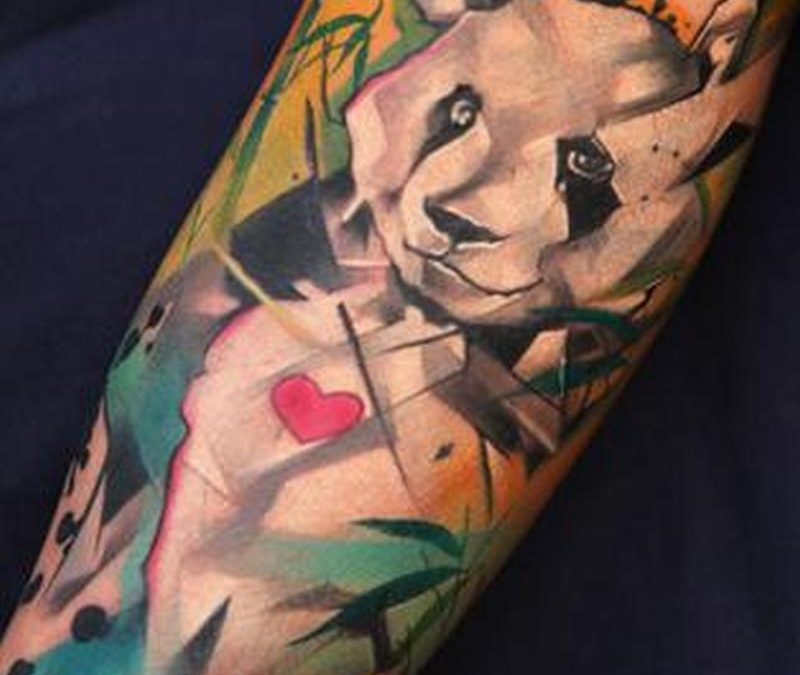 Awesome panda bear tattoo design