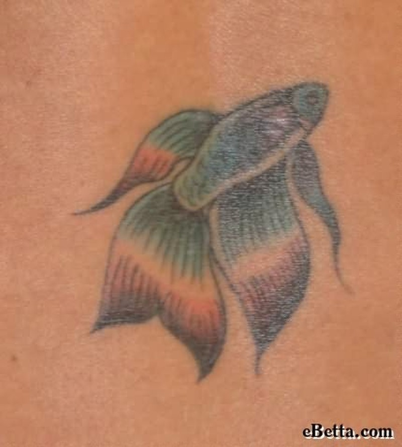 Awesome small fish tattoo design