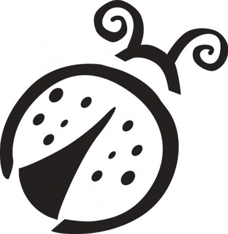 Awesome tattoo design of lady bug