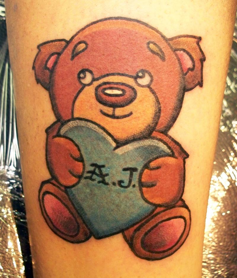 Awesome teddy bear tattoo design