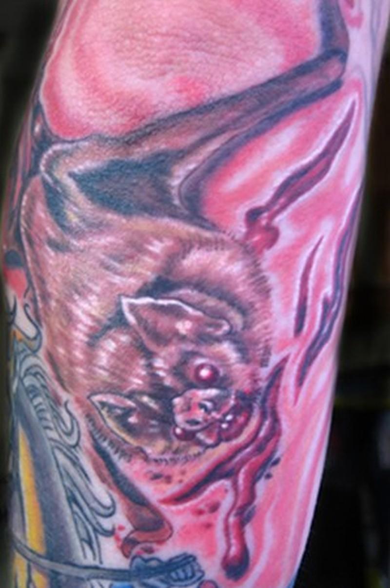 Awesome vampire bat tattoo design