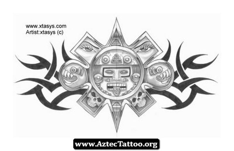 Aztec calendar tattoo gallery