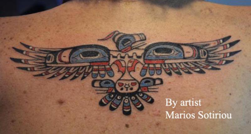 Aztec eagle tattoo design 2