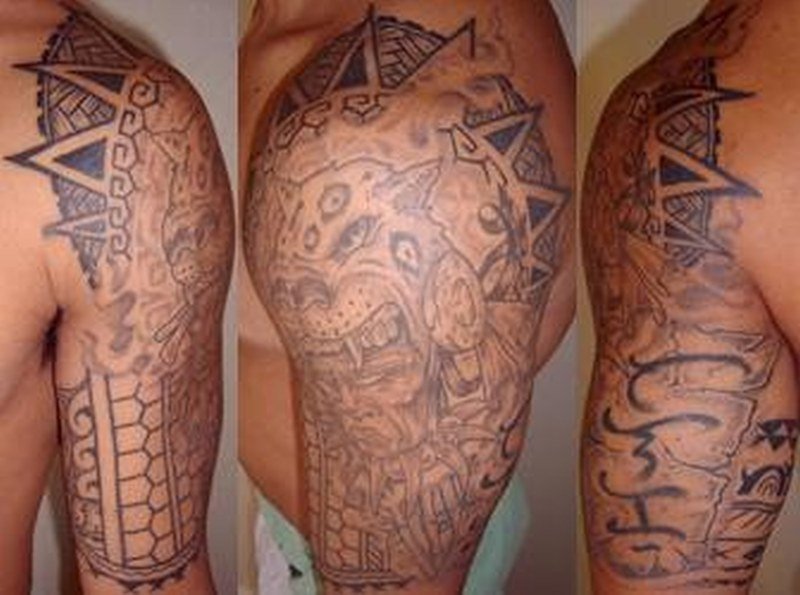 Aztec for men tattoo