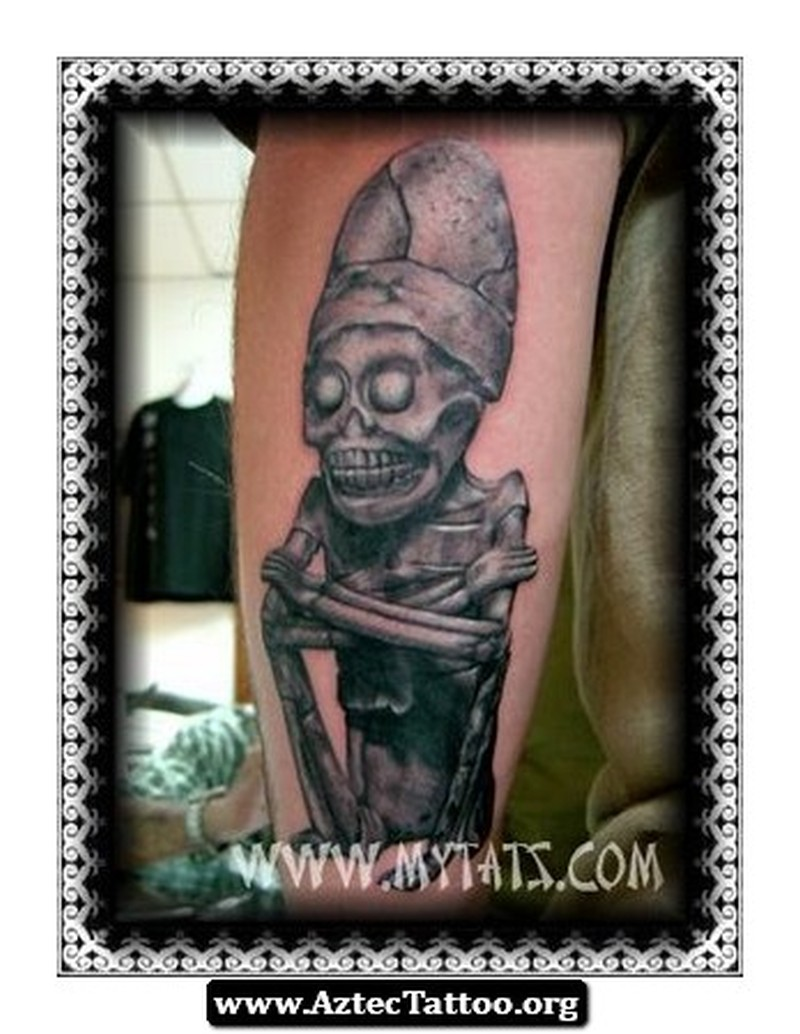 Aztec god of death tattoo picture