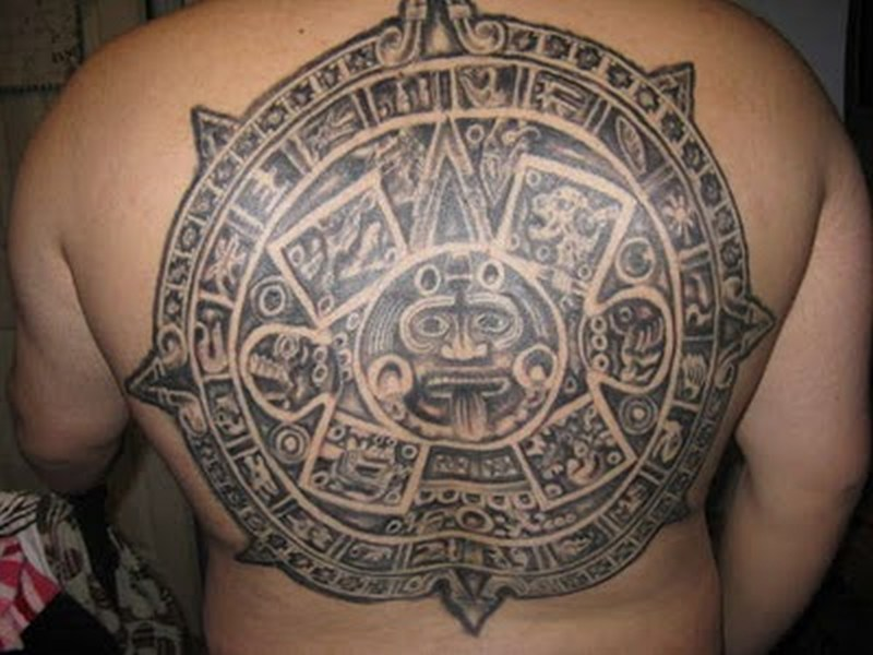 Aztec mayan calendar tattoo