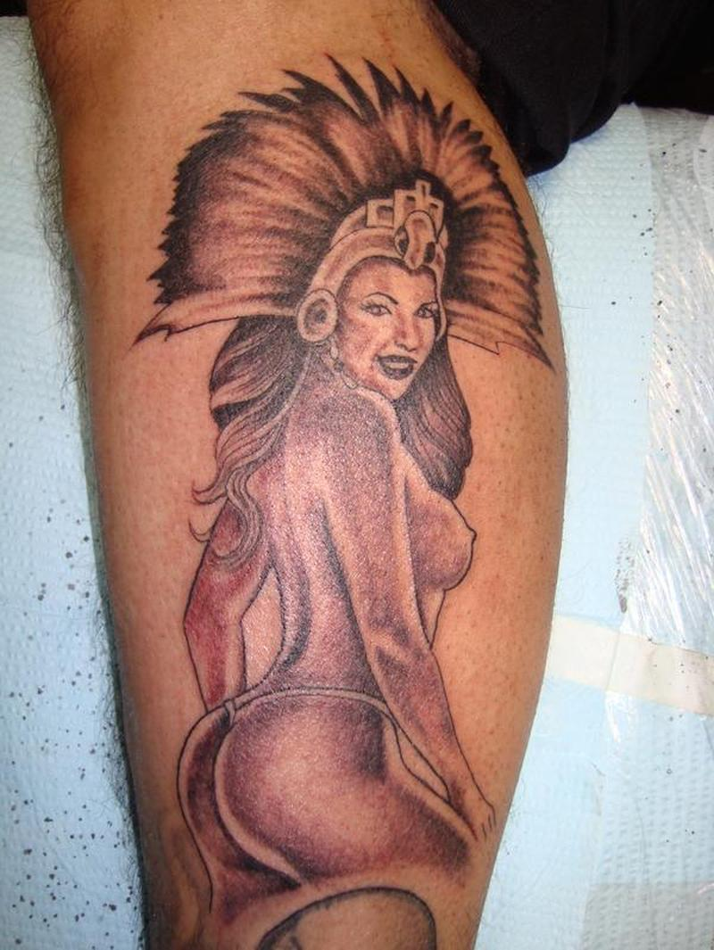 Aztec naked woman tattoo - Tattoos Book - 65.000 Tattoos Designs