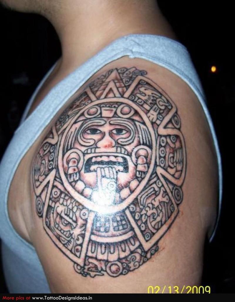 Aztec printable tattoo