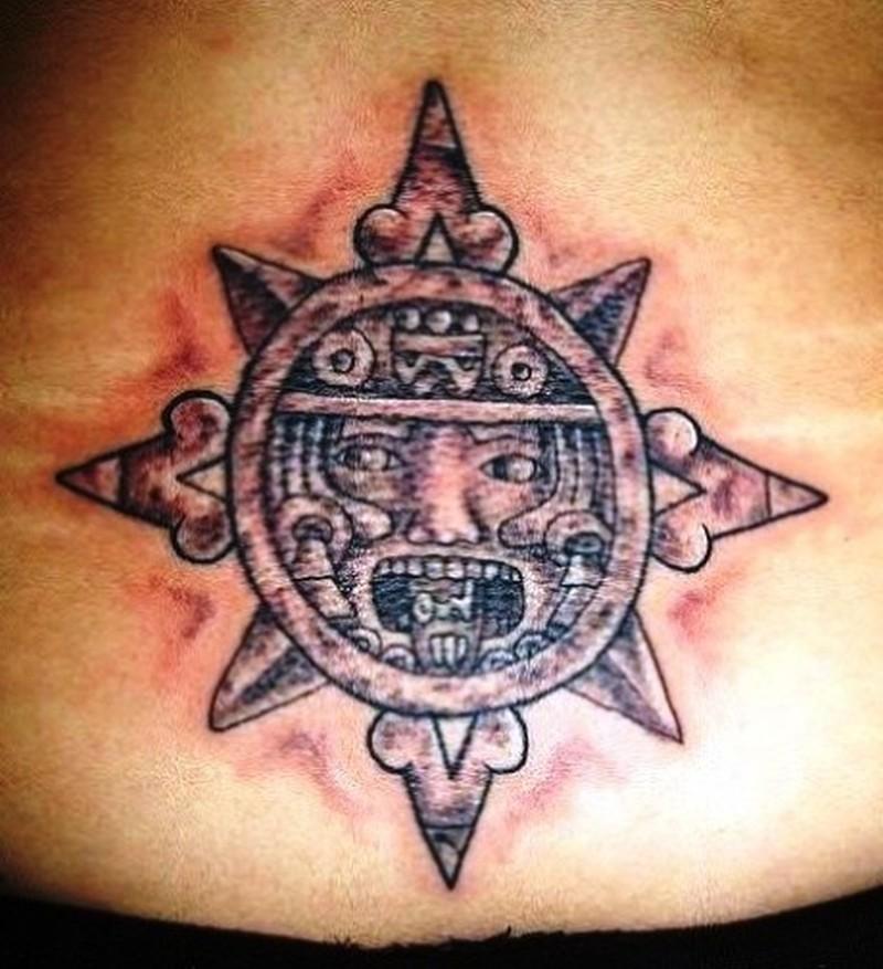 Aztec star tattoo
