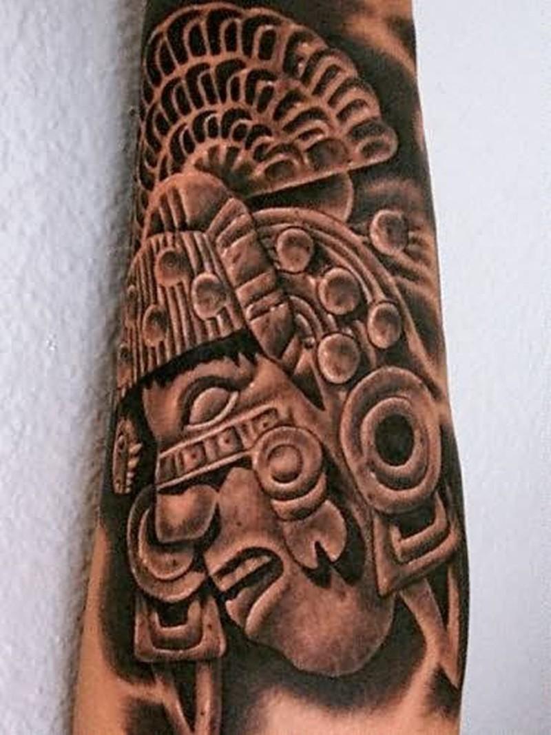 Aztec tattoo graphic design